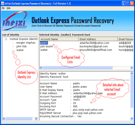 outlook express account password recovery