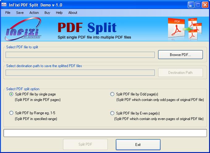 By using PDF Split Tool- Split PDF File