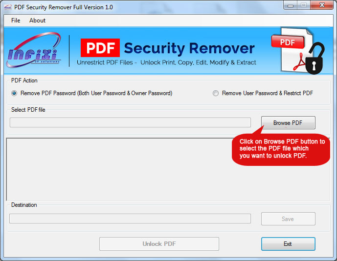 Restrict PDF Program