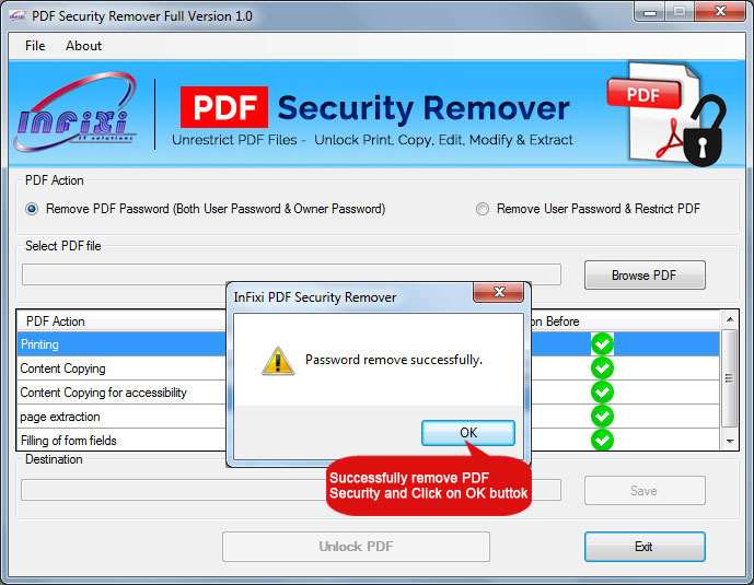 Disable PDF Printing